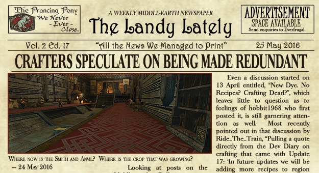 The Landy Lately Newspaper, Vol. 2 Ed. 17 — 25 May 2016